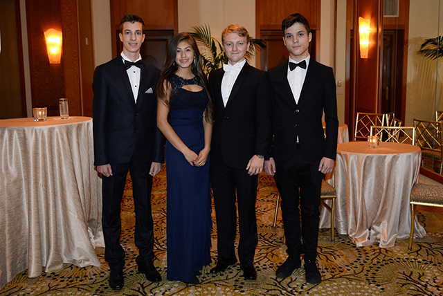 The Organizing Students:  left to right Peter Szeles Bianca Rosales Adam Beres, Founder - Ambassadors of the Future Ethan Feldman