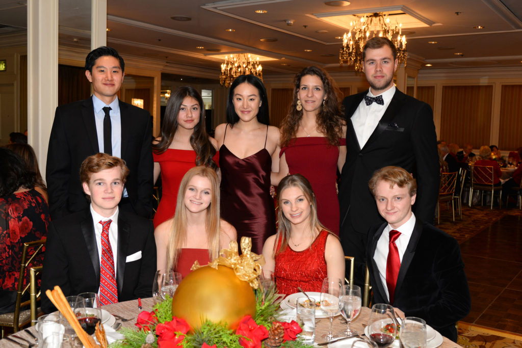 From left to right: The 2018 Ambassadors of the Future students, upper row: Michael Kim, Bianca Flores, Annie Kim, Luca Morocz, Peter Beke lower row: Jonathan Mulville, Helena Mulville, Katie Donnenfeld, Adam Beres